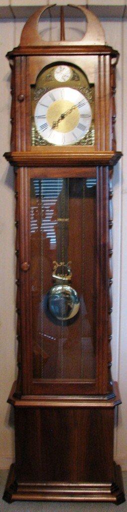 11: Walnut West Germany Grandfather Clock