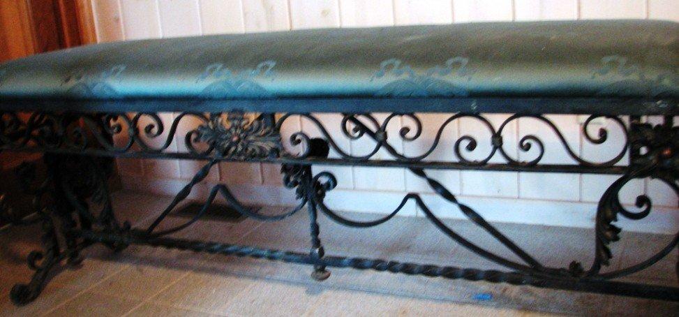 12: Heavy Wrought Iron Bench