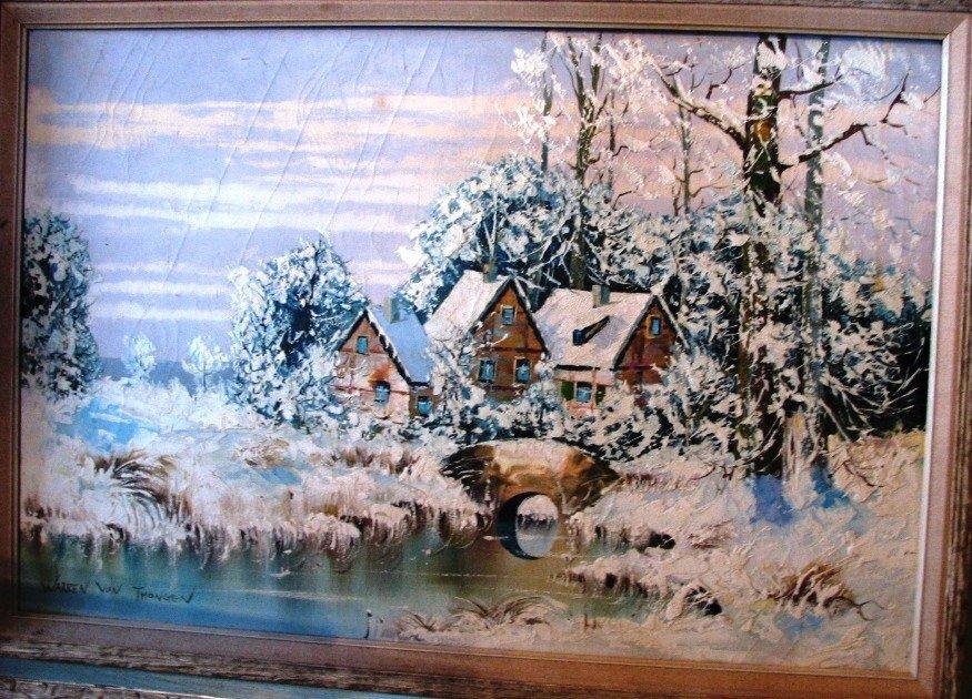 15: Warren Von Thongen Oil on Canvas Painting