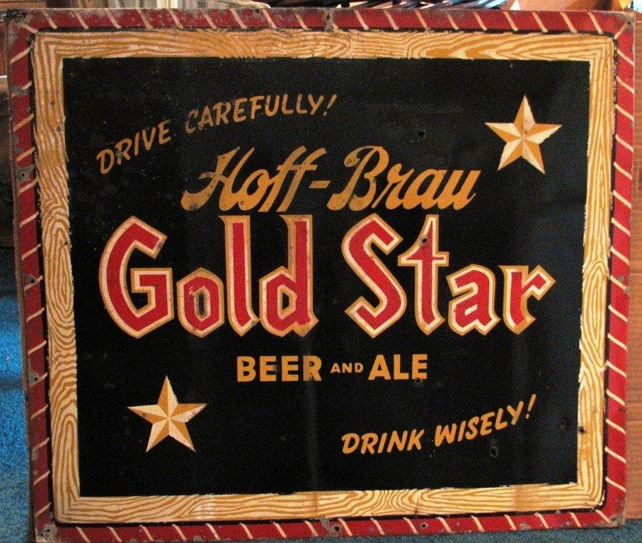 16: Hoff Brau Metal Sign