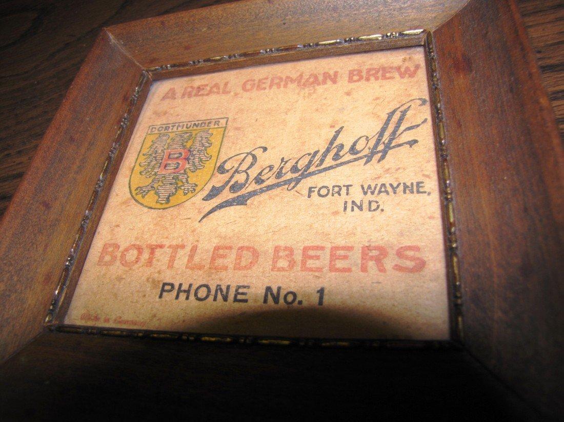20A: 1 of a kind, rare Berghoff Dortmunder beer coaster