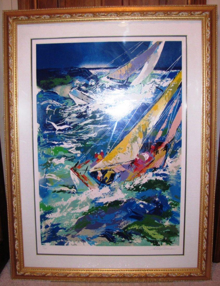 17A: Leroy Neiman High Seas Sailing II Painting