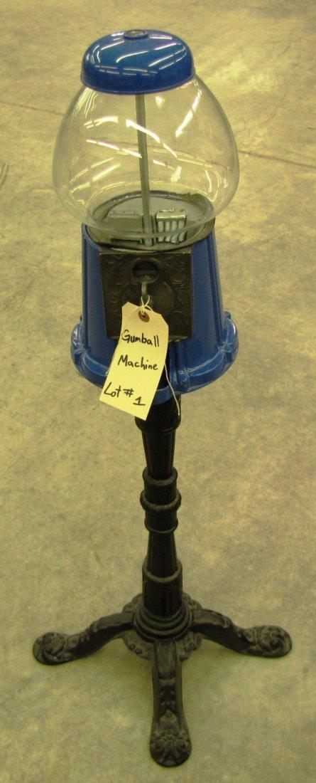 1: Gumball Machine on pedestal