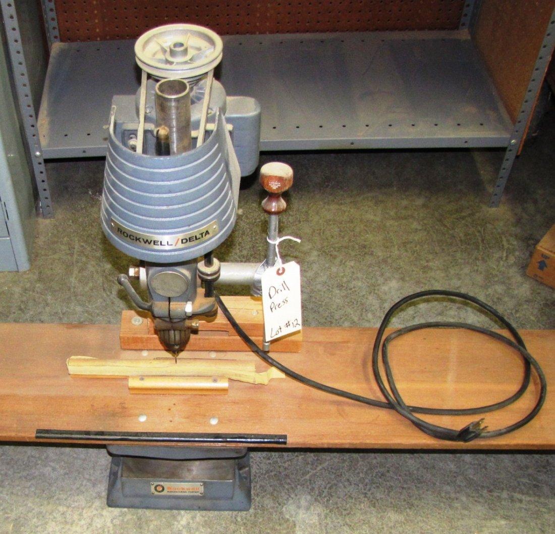 12: Rockwell Delta drill press