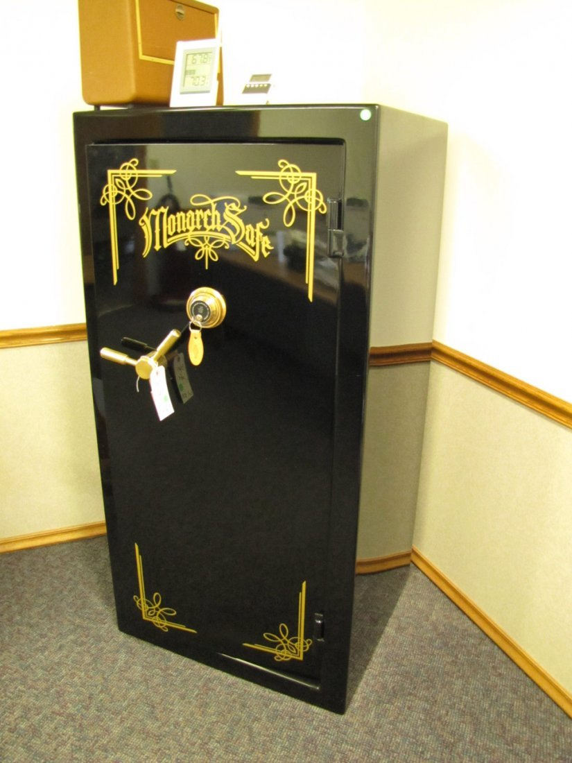 10A: Large floor standing Monarch firearms safe