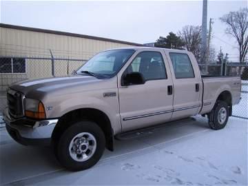 110: 1999 Ford F-250 diesel pick-up truck 4X4