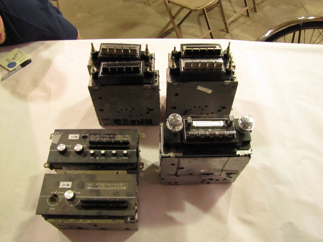 8: 7 GMC Buick Delco 1960's 1970's car radios