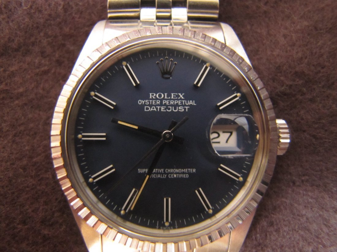24A: Genuine Rolex Date Just wrist watch