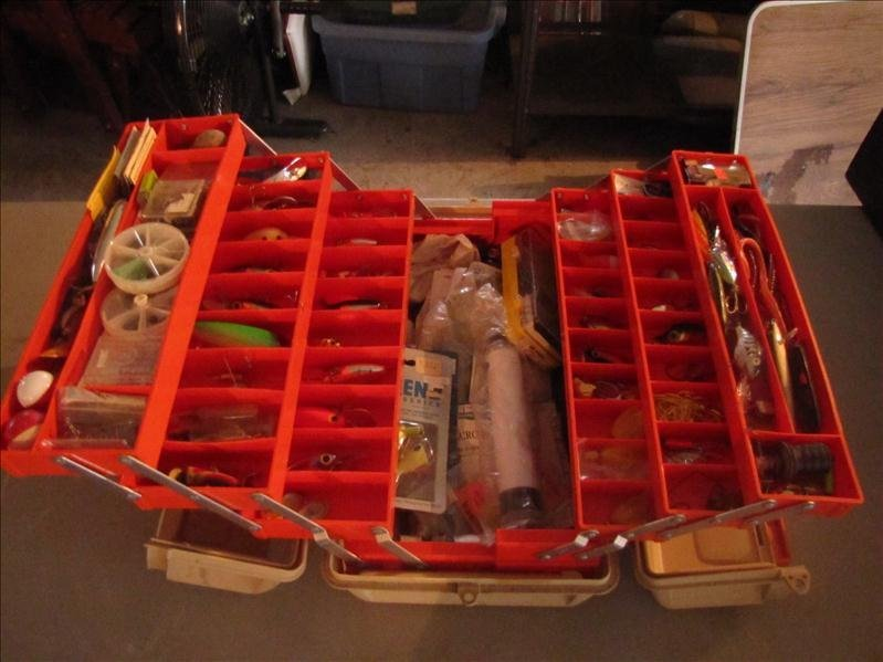 3: Tackle box with fishing tackle