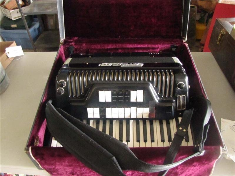 22: Cordovox accordion in case