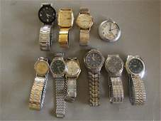 53 9 Wrist watches and 1 pocket watch