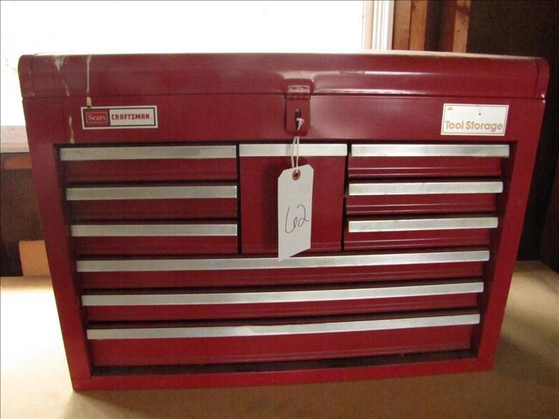 62: Sears craftsman tool storage box