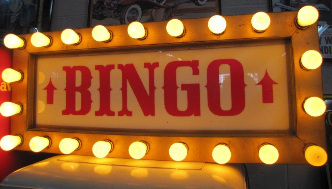 1: Antique Lighted Bingo Sign