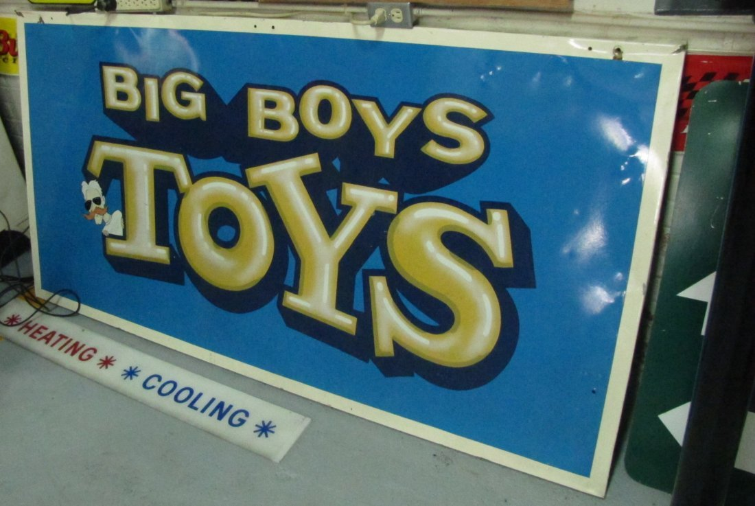 7: Big Boys Toys tin one sided  sign
