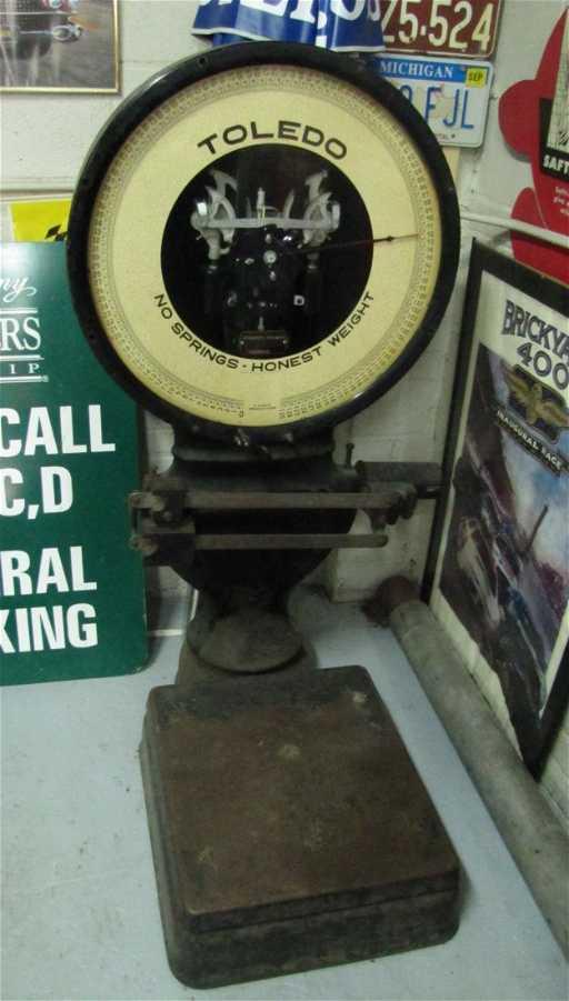 8 Antique Toledo No Springs Honest Weight Scale