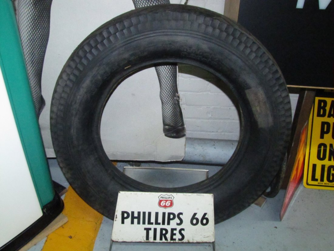 14: Phillips 66 tire advertising display
