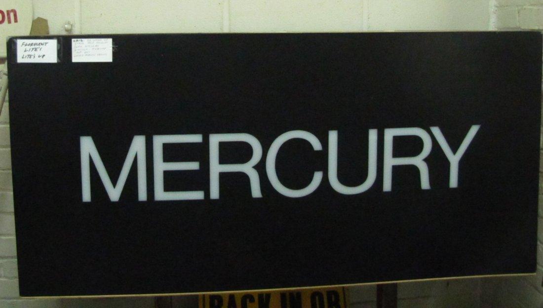 16: Mercury hardwire lighted sign