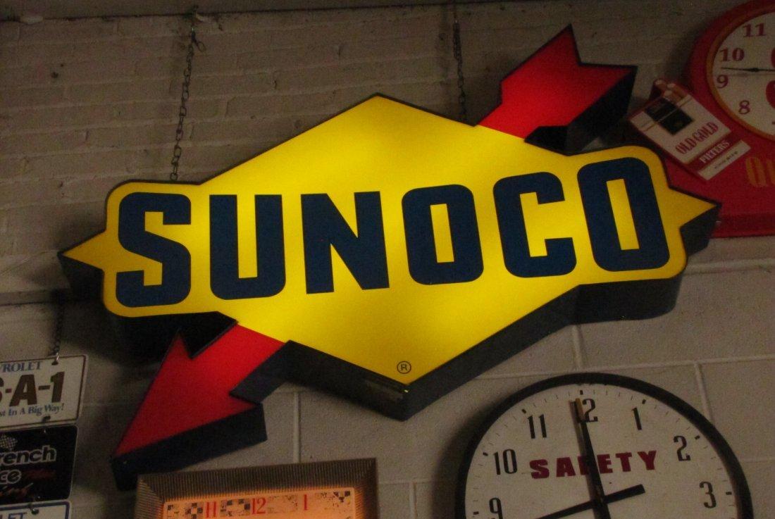 46: Everbrite Sunoco Petroleum Gasoline Lighted Sign