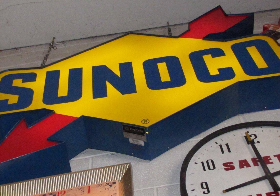 46: Everbrite Sunoco Petroleum Gasoline Lighted Sign - 3