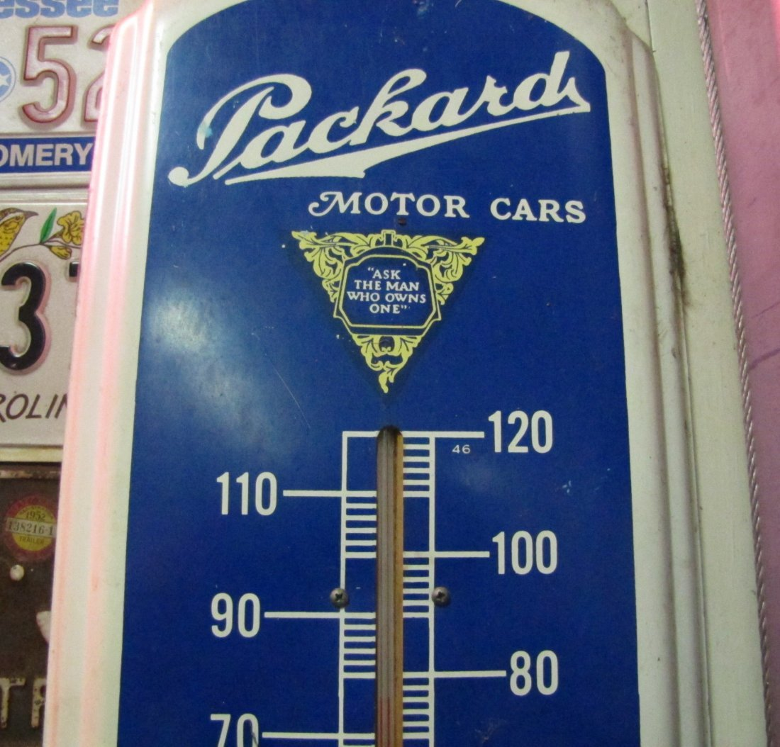 63: Packard Motor Cars Metal Advertising Thermometer - 2