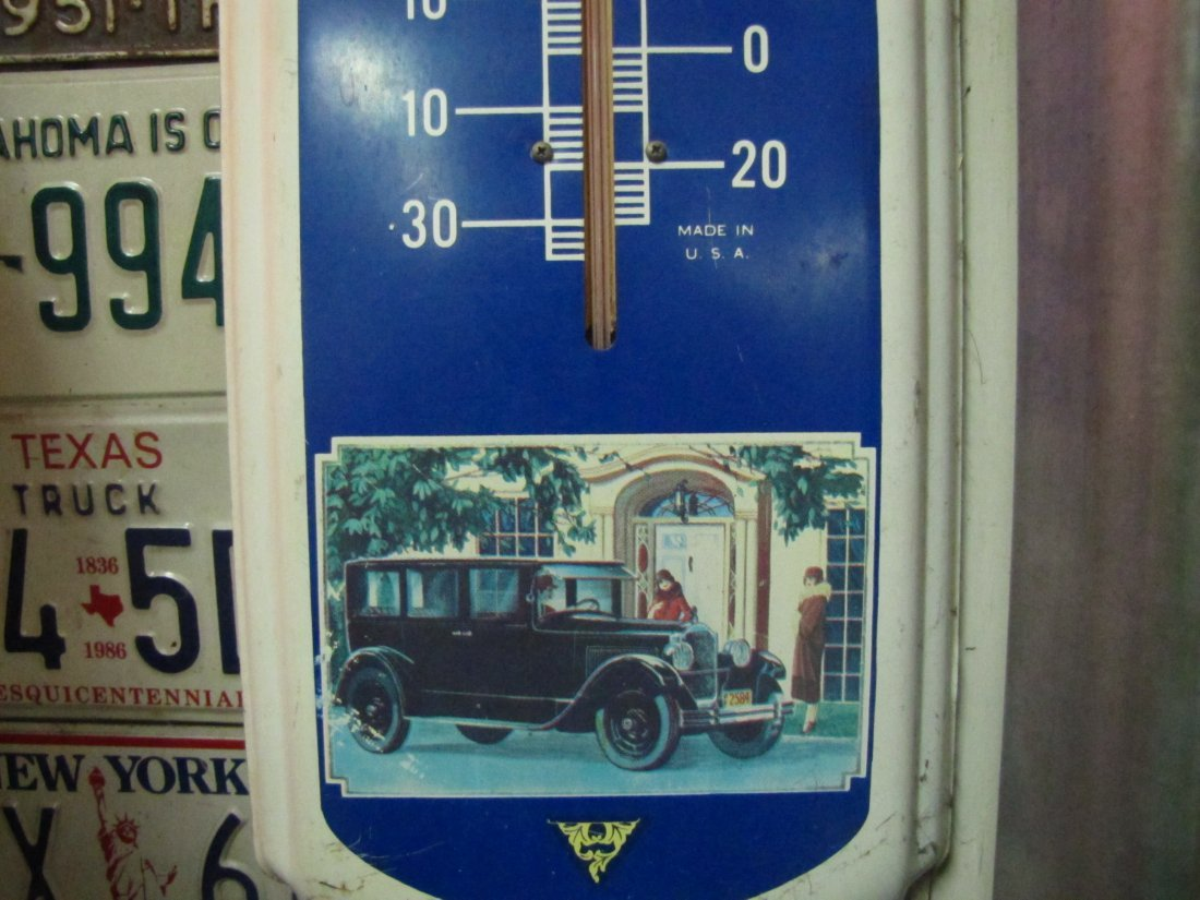 63: Packard Motor Cars Metal Advertising Thermometer - 3