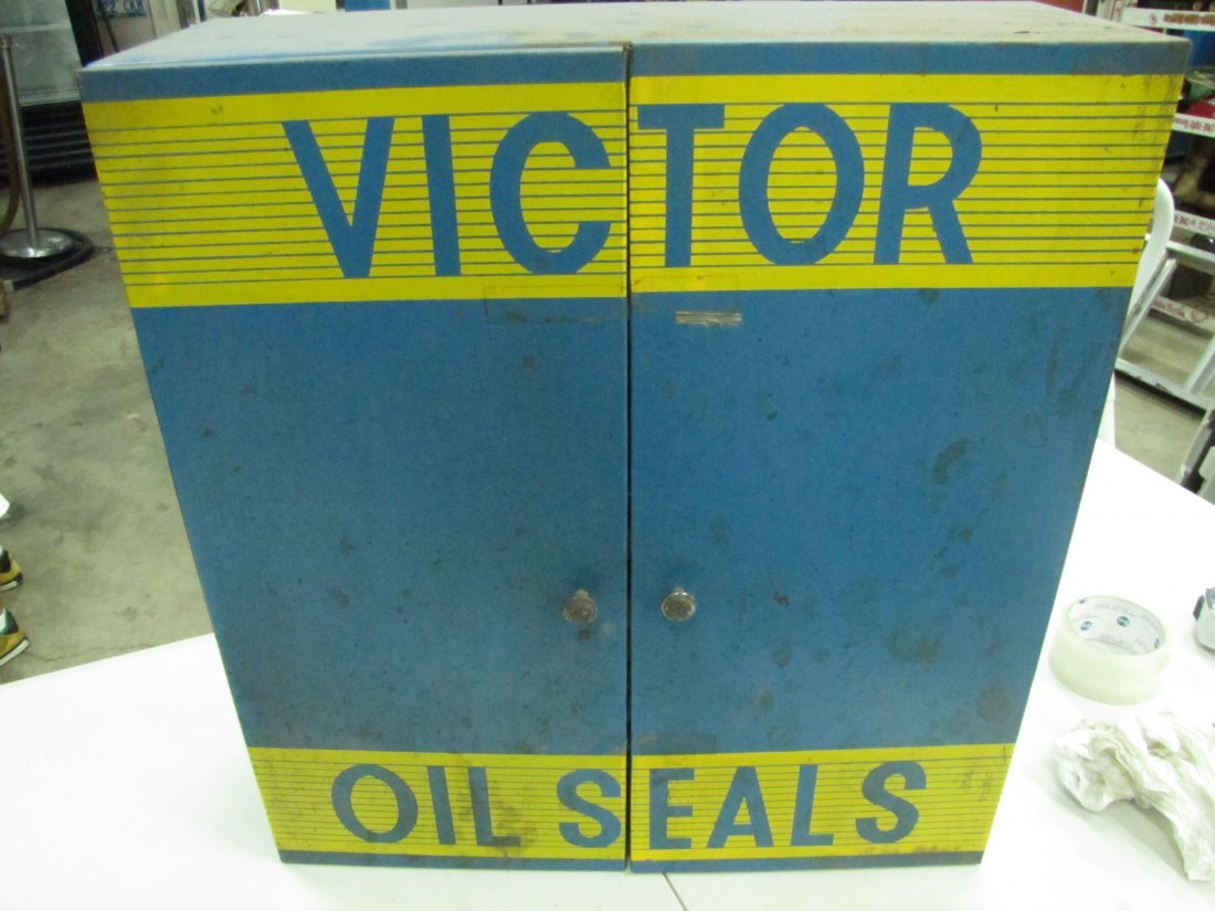 85: Victor Oil Seals Advertising Cabinet