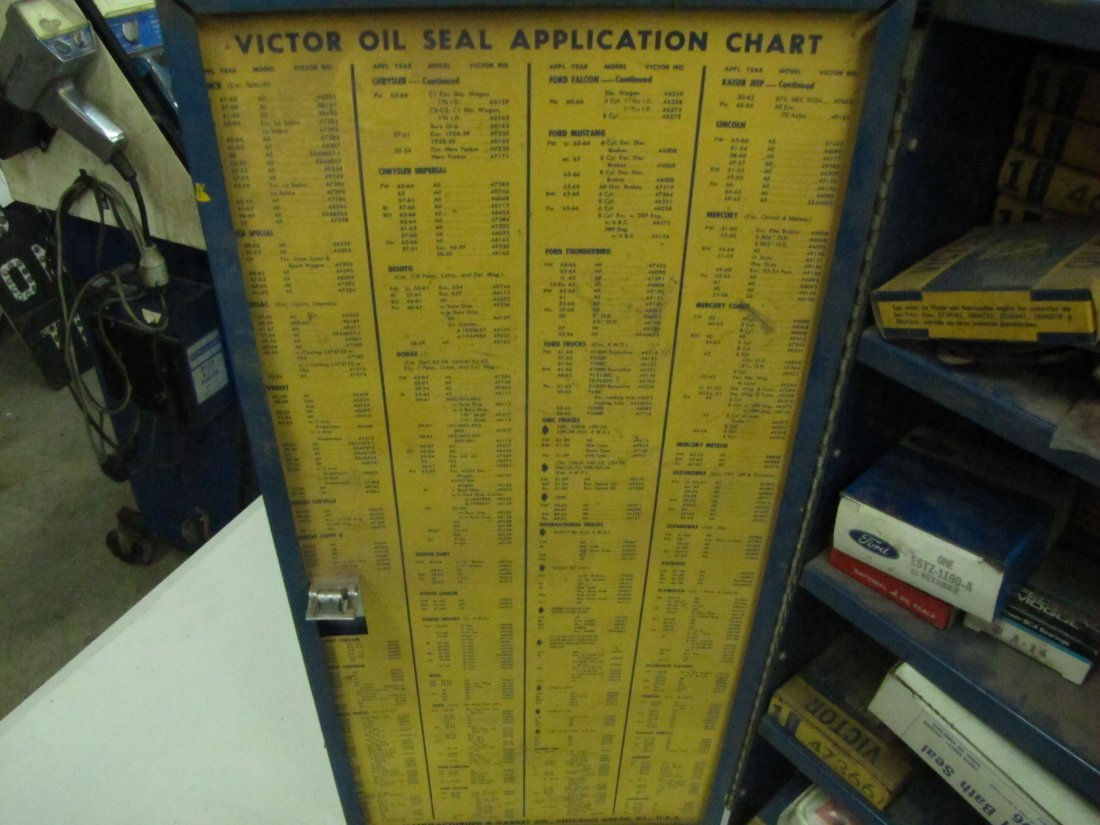 85: Victor Oil Seals Advertising Cabinet - 4