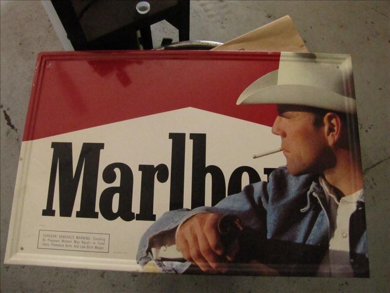 244: Marlboro Man Cigarette tin sign