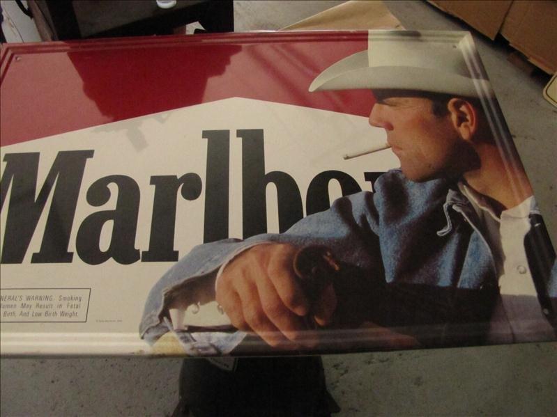 244: Marlboro Man Cigarette tin sign - 2