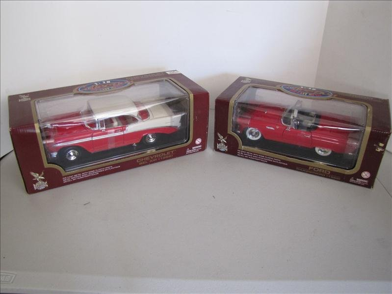 518: 2 - 1955 & 56 Diecast Cars Ford & Chevy