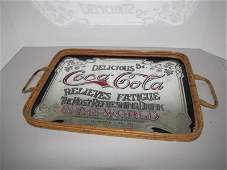 579: Retro Styled Coke Advertising Mirror