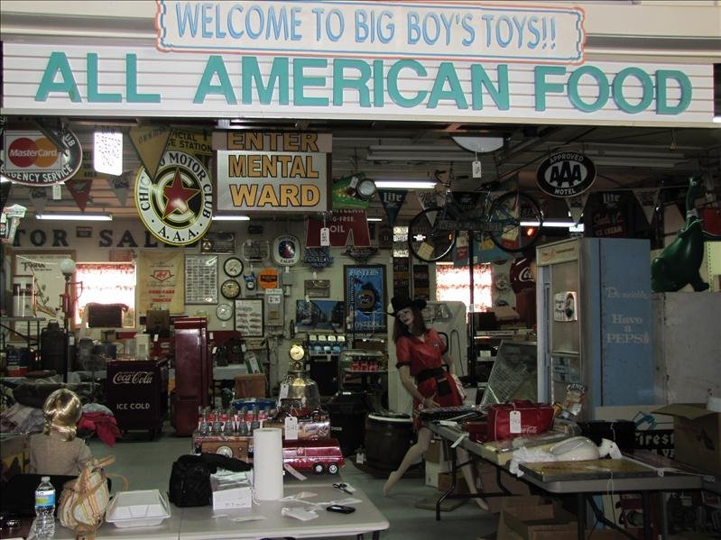 499B: ALL AMERICAN FOOD Sign