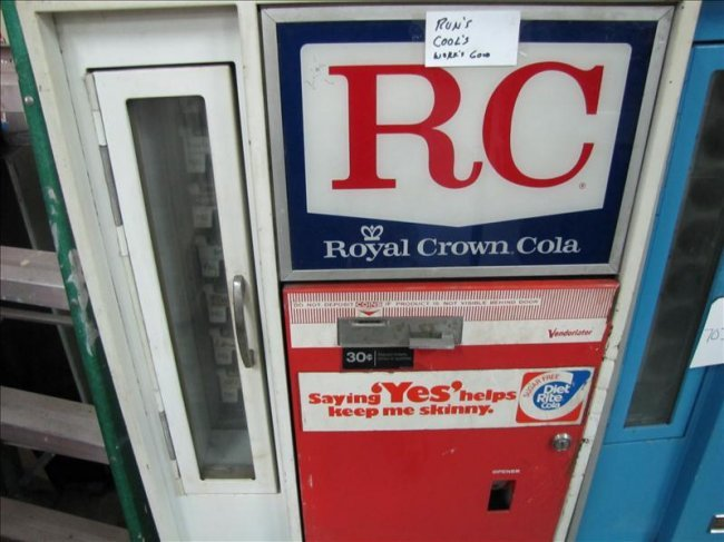 royal crown cola vending machine