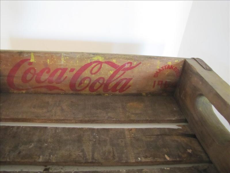 512: 1964 Wooden Yellow Coke Crate - 2