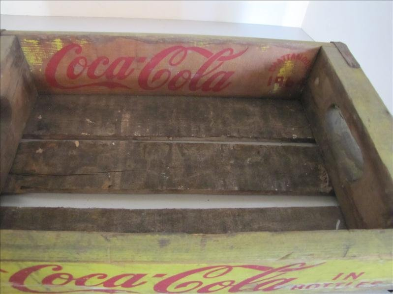 512: 1964 Wooden Yellow Coke Crate - 3