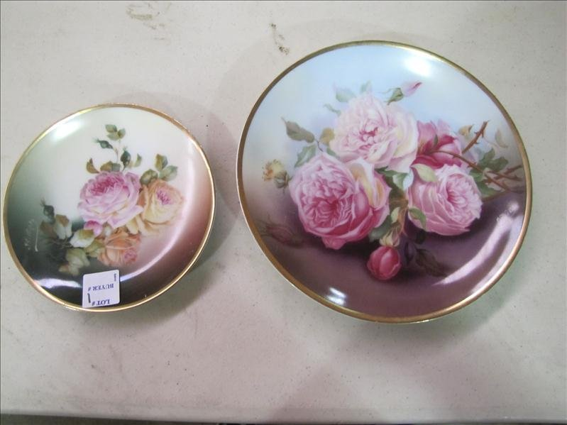 2: (2) Hand Painted Sevres Bavaria plates