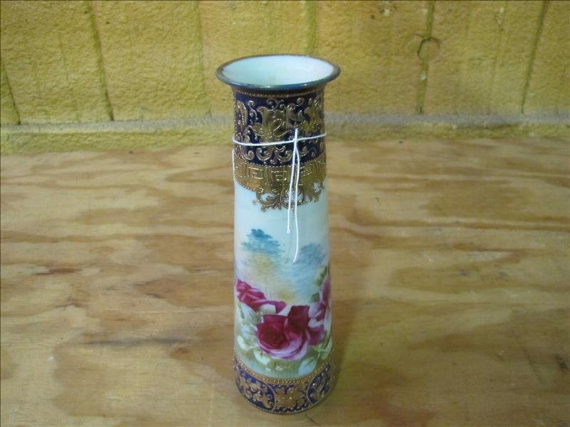 15: Hand painted vase