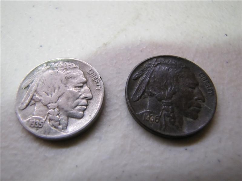 23: (2) Indian Head Buffalo Nickels