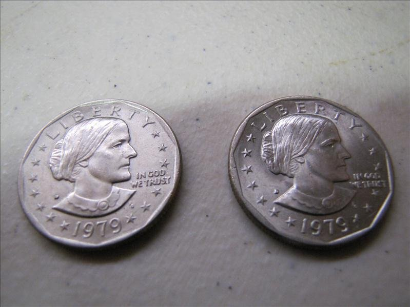 24: 1979 US Liberty one dollar coins