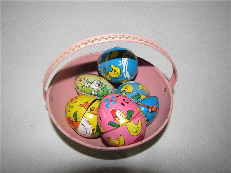 8: J Chein & Haji Tin Toy Egg Lot