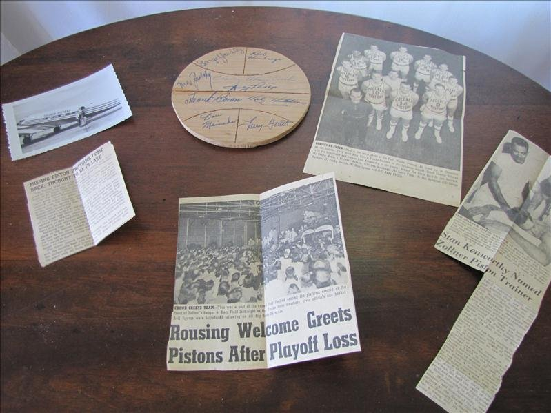 18A: 55-56 Ft. Wayne Zollner Pistons Autographs & more
