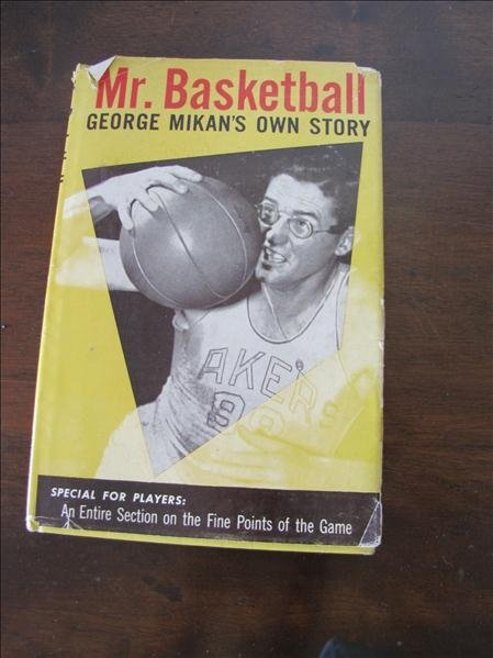 18B: George Mikan's complete autographed book Lakers