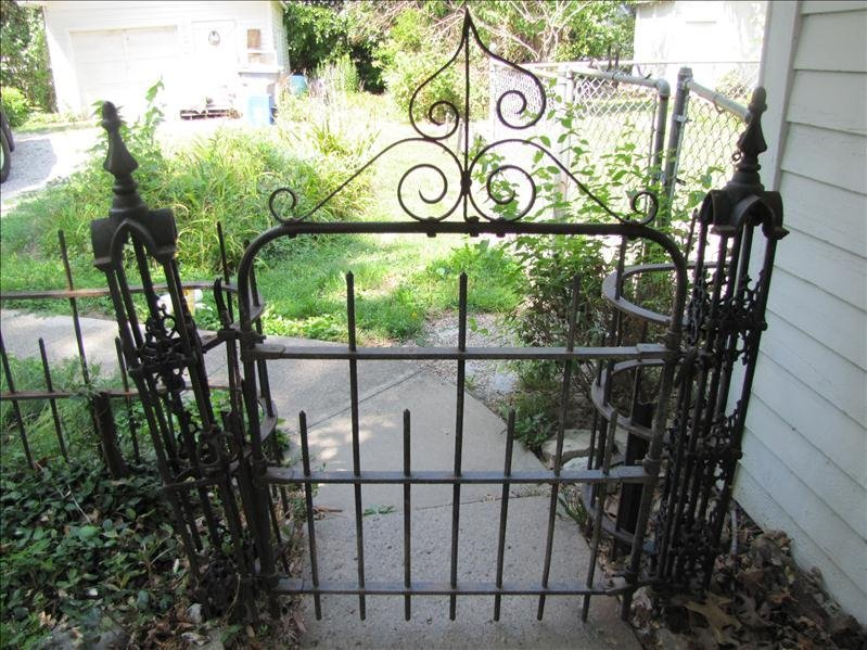 235: Antique Wrought Iron Fence - 2