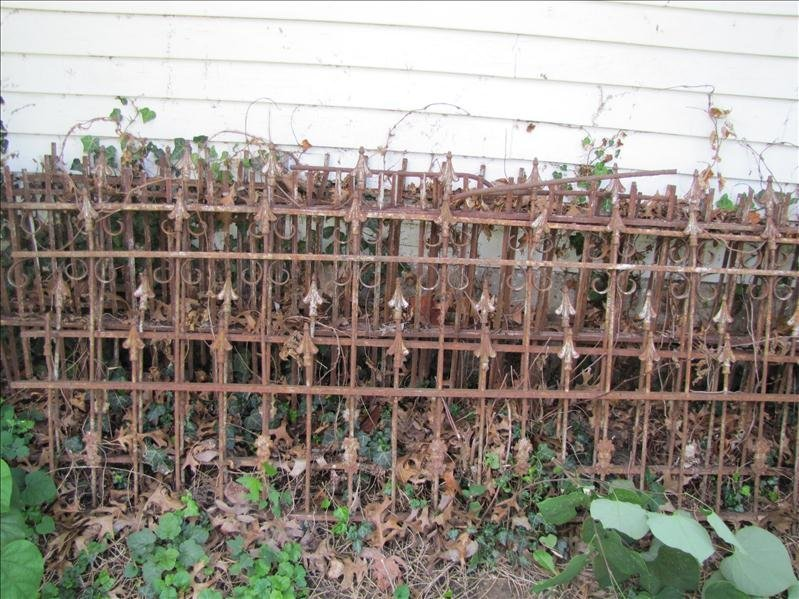 235: Antique Wrought Iron Fence - 6