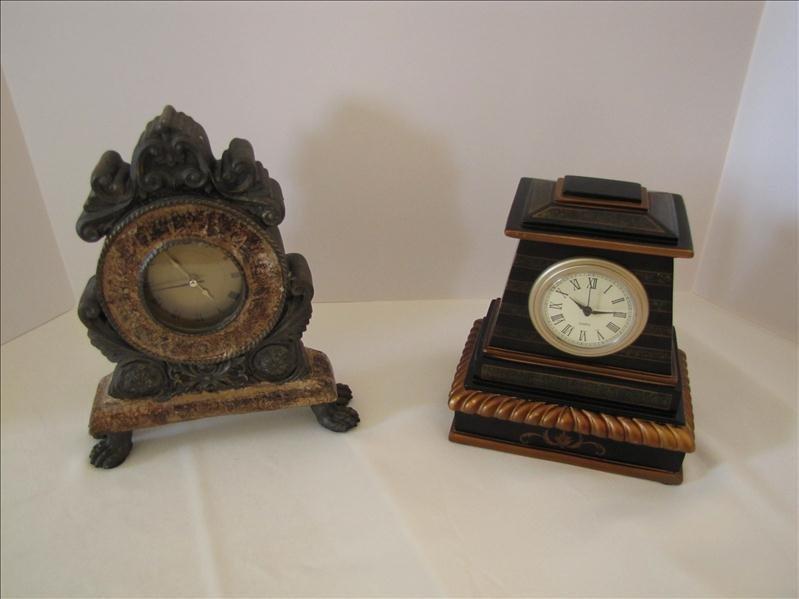 1: Pair of Decorative Clocks
