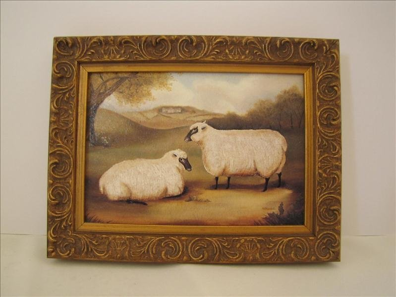 3: Framed Print With Sheep