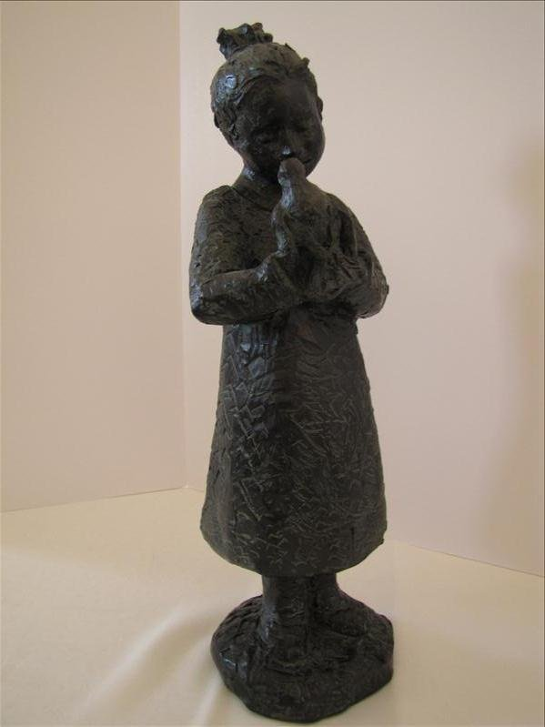 7: Statuary Little Girl With Bird