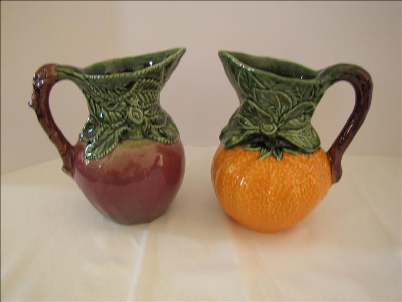 8: Pair of Ceramic Fruit Pitchers