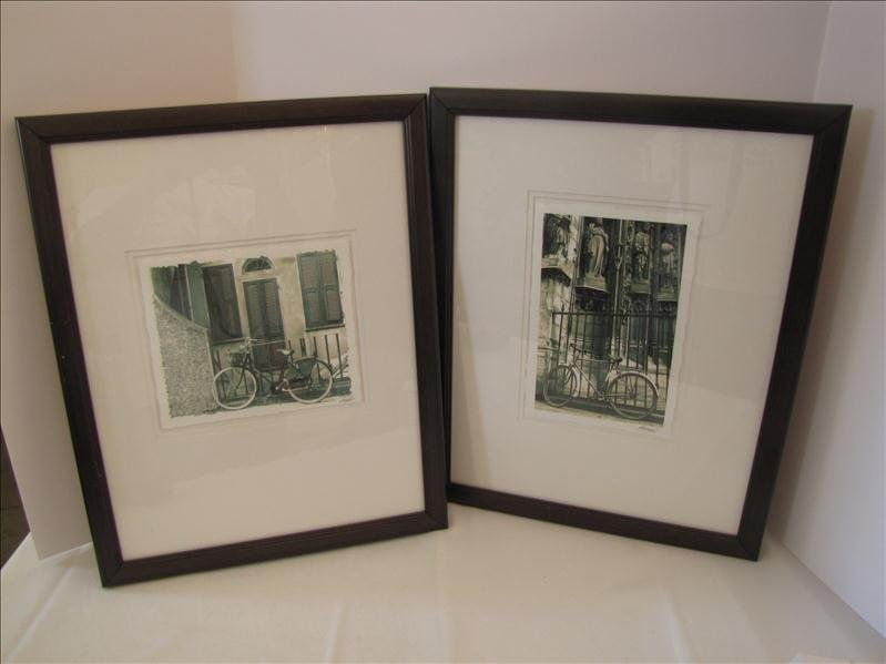 16: Pair of Framed Decorative Bike Prints