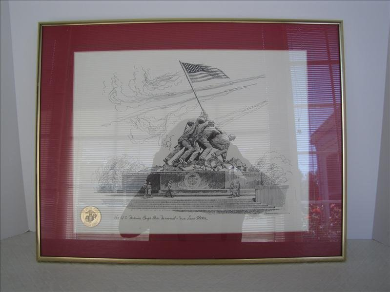 20: Don Cannavaro Signed Print Statue of Iwo Jima